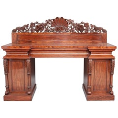 19th Century Mahogany Pedestal Sideboard