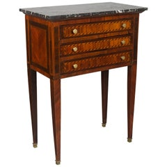 19th Century Louis XVI Style Marquetry Side Table