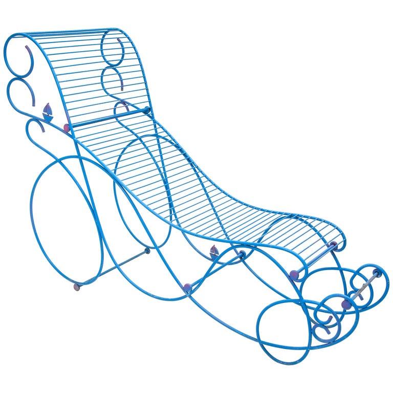 Riccardo Dalisi, Wrought Iron Chaise Longue, Prototype, Italy