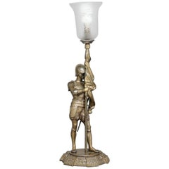 Early 20th Century Brass Lamp