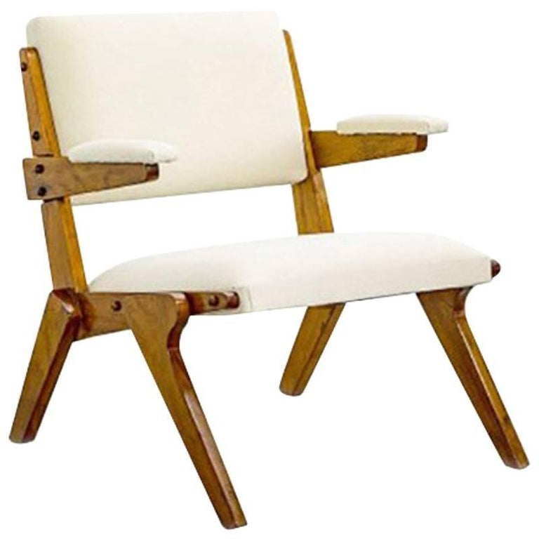 Lina Bo Bardi Armchair in Solid Peroba Wood