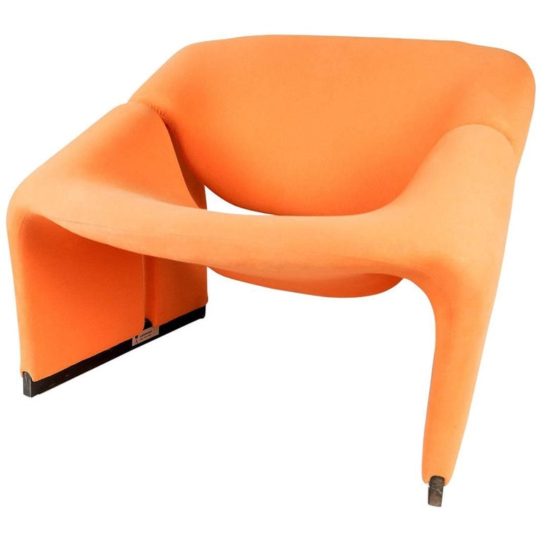 Pierre Paulin Groovy Chair F598 for Artifort, First Edition Original Vintage