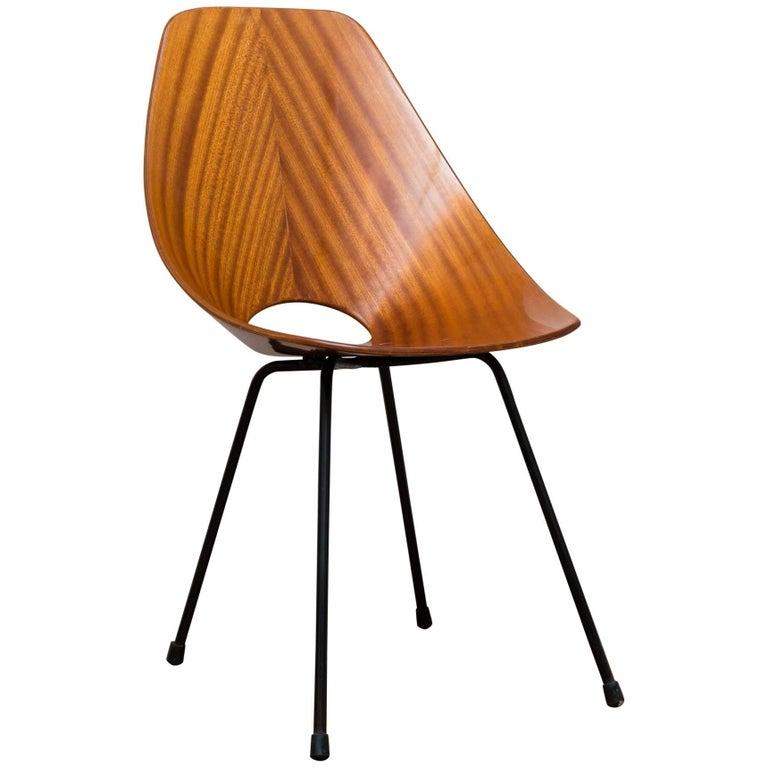 Vittorio Nobili Medea Chair, Rosewood, Italy, circa 1950