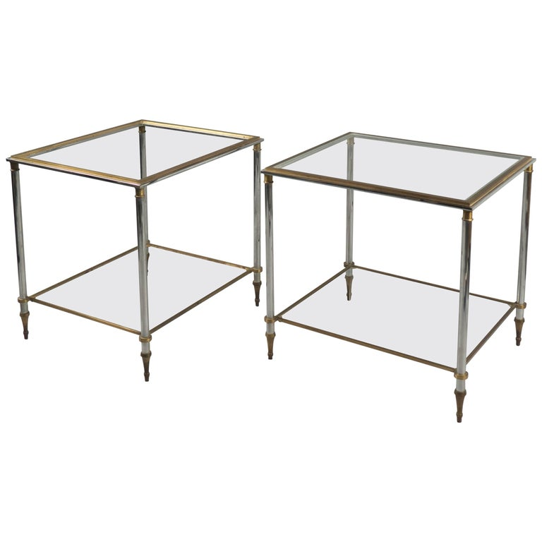 Pair of Side Tables, France, 1970s For Sale
