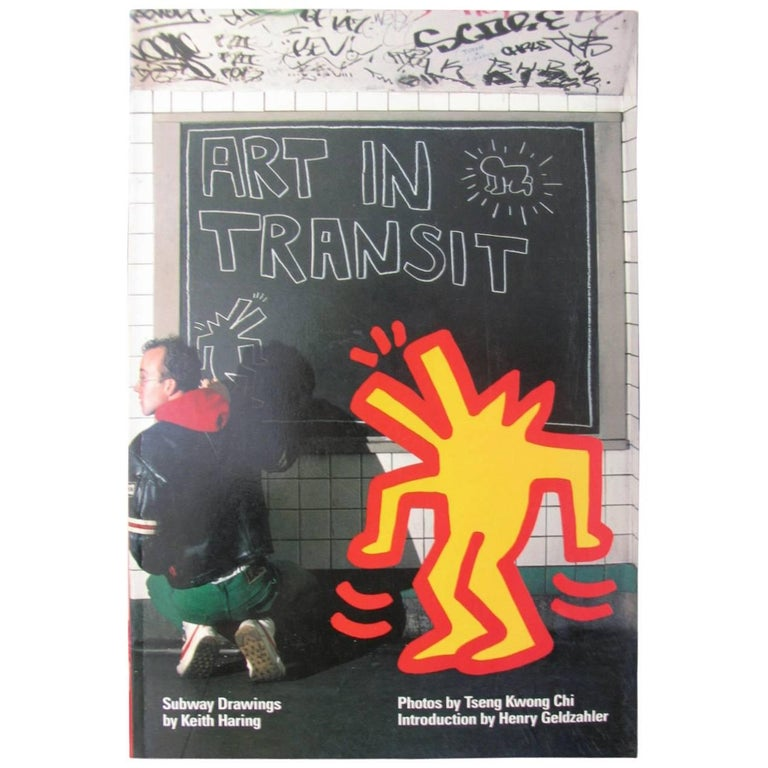 ART IN TRANSIT: Subway Drawings by Keith Haring, 1st Edition, Signed, 1984