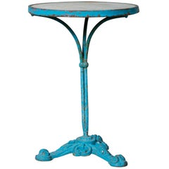 Antique Turquoise Marble Top Gueridon Table from France, circa 1900
