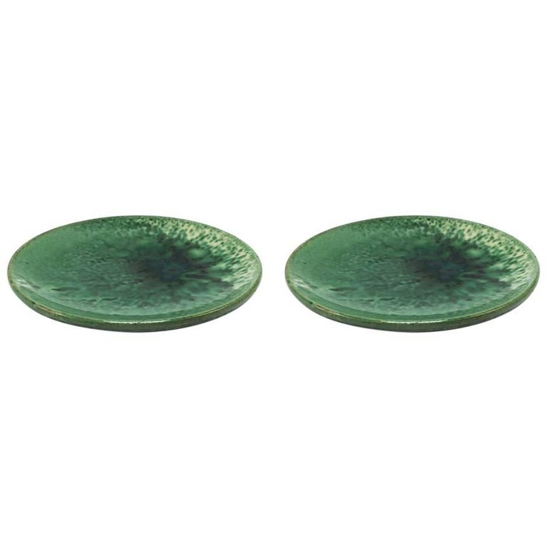 Pair of French Ceramic Plates, circa 1960