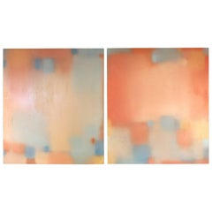 Pair of Abstract Painting by Julian Jackson