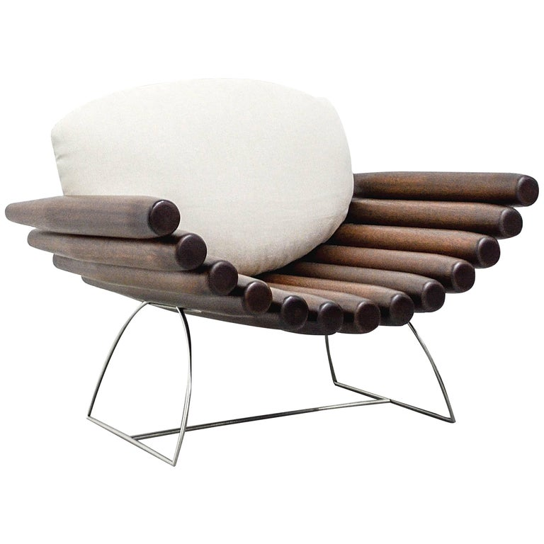 """Cuba"" Armchair, by Rodrigo Ohtake, Brazilian Design For Sale"
