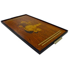Bar Serving Tray with Inlays from Mölby Intarsia, circa 1930s