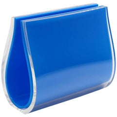 Contemporary  Double Large Frame Plexiglass, Will Plexi Blue