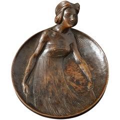 Gustav Gurschner Bronze Figural tray made in Austria
