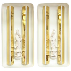 Pair of Rare sconces designed by Gio Ponti made in Italy in 1950