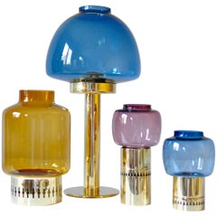 Set of Four Candlesticks by Hans-Agne Jakobsson Markaryd, Sweden