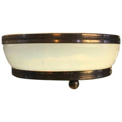 19th Century French Opaline Glass Bowl Vide Poche Catchall