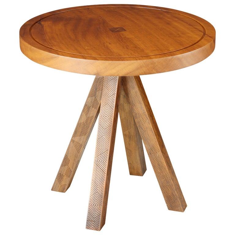 Imbuia Wood Small Tribos Side Table by Brazilian Yankatu (solid wood)