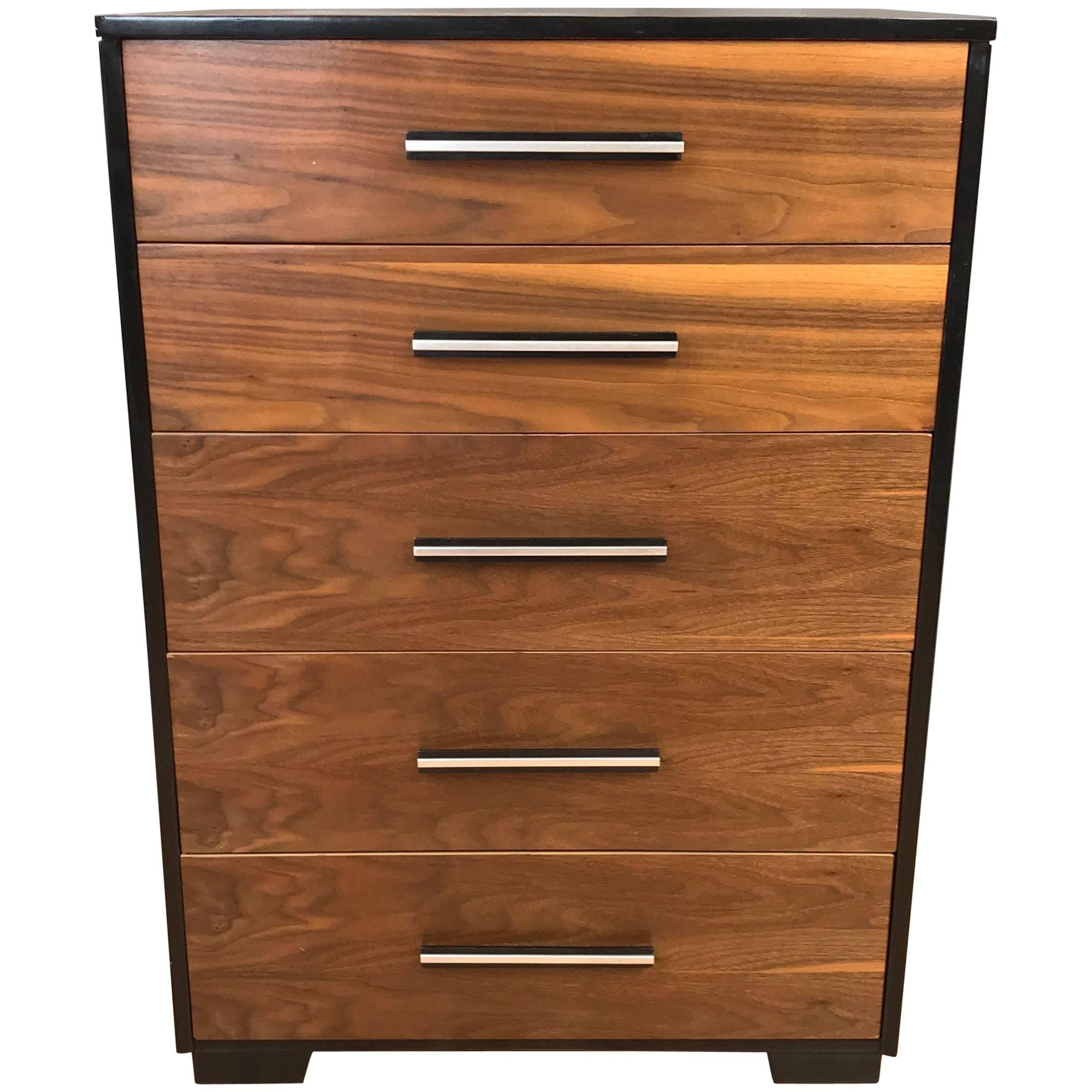Raymond Loewy For Mengel Walnut Highboy Dresser