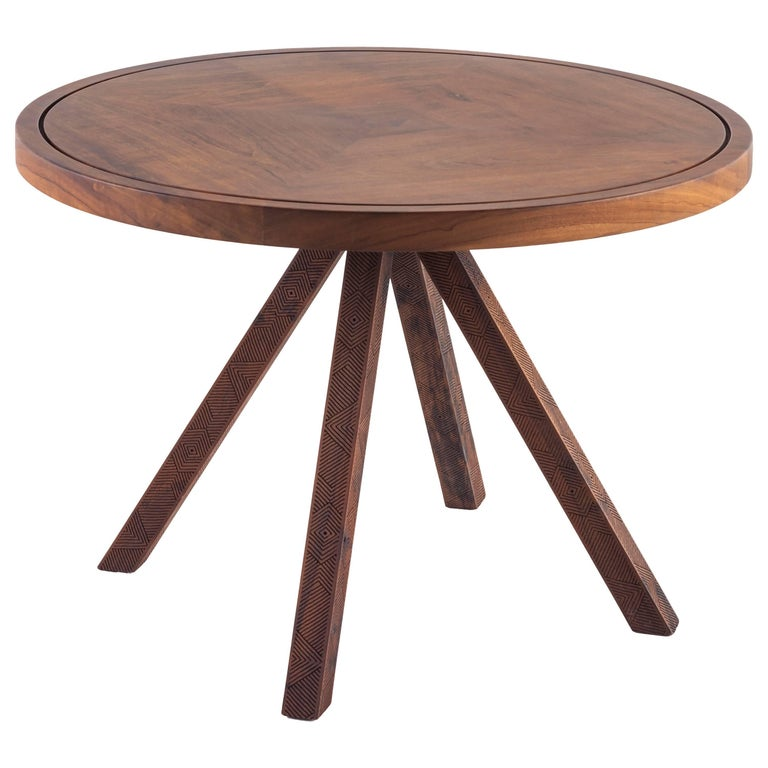 Imbuia Wood Medium Tribos Side Table by Brazilian Yankatu (solid wood)
