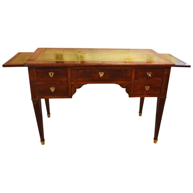 French Empire Style Walnut Writing Desk or Bureau Plat