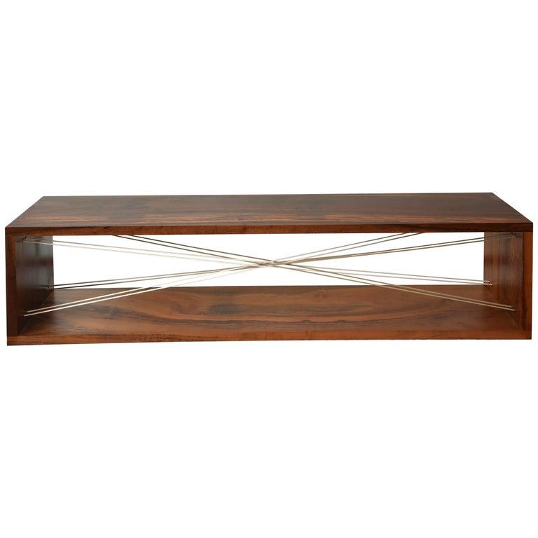 'Entrelaçados' Bench in Imbuia Hardwood  For Sale