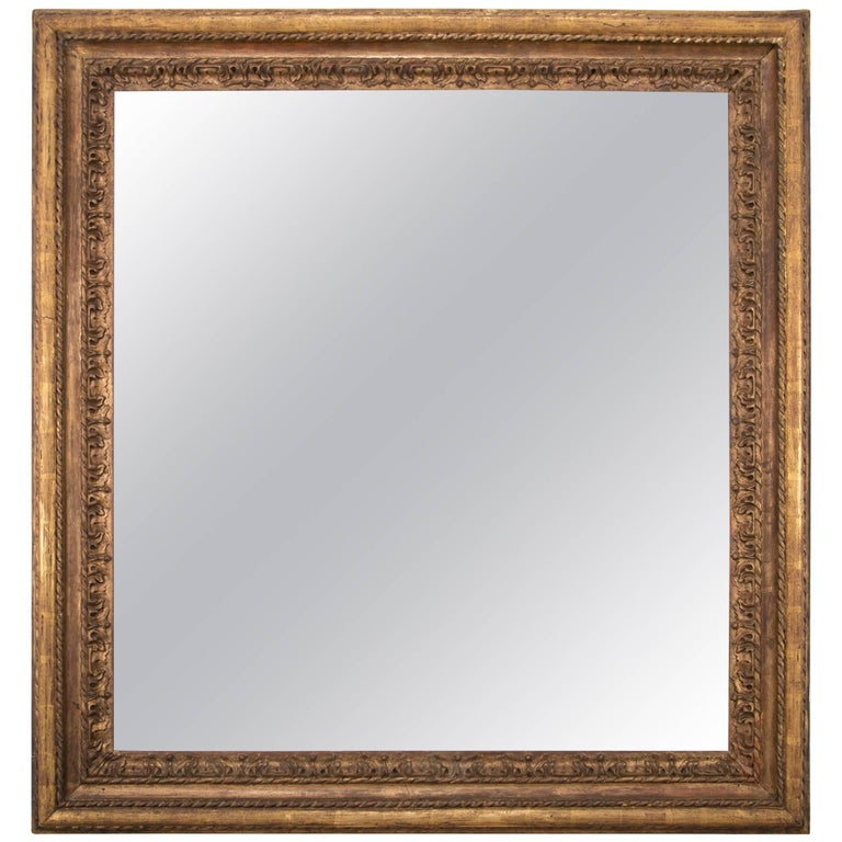 Italian Giltwood Mirror Frame, Large-Scale For Sale