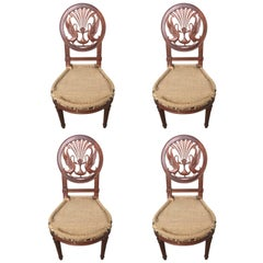 20th Century Set of Four Directoire Style Mahogany Chairs