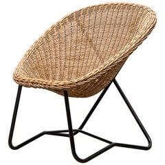 Dirk van Sliedregt Woven Rattan Bucket Chair
