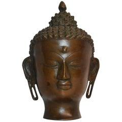 Vintage Thai Bronze Buddha Head
