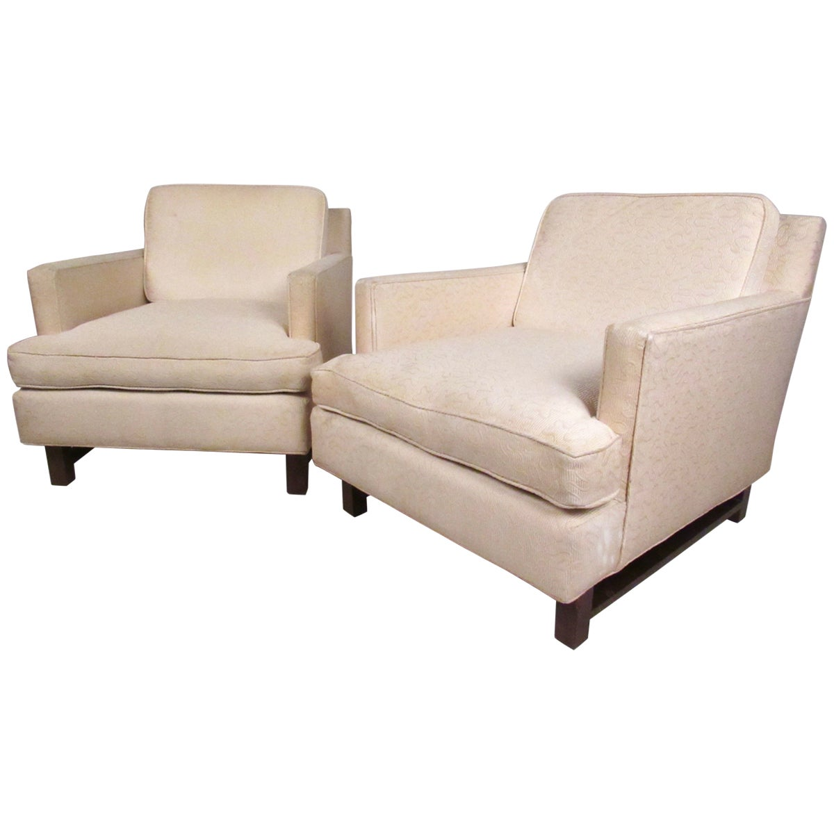 Pair of Vintage Modern Dunbar Style Lounge Chairs