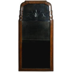 Early 18th Century Queen Anne Period Walnut Mirror