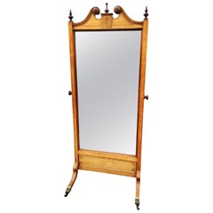 Cheval Mirror in Oak English, circa 1910