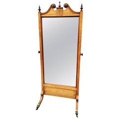 Cheval Mirror in Oak English, circa 1910