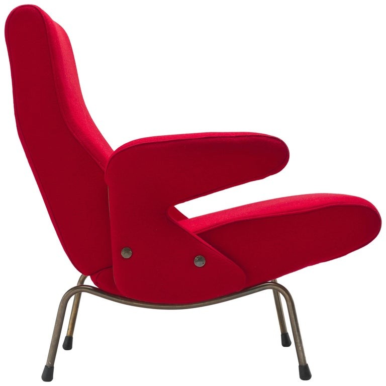Early Italian Delfino Lounge Chair by Erberto Carboni, 1954, Arflex, Italy
