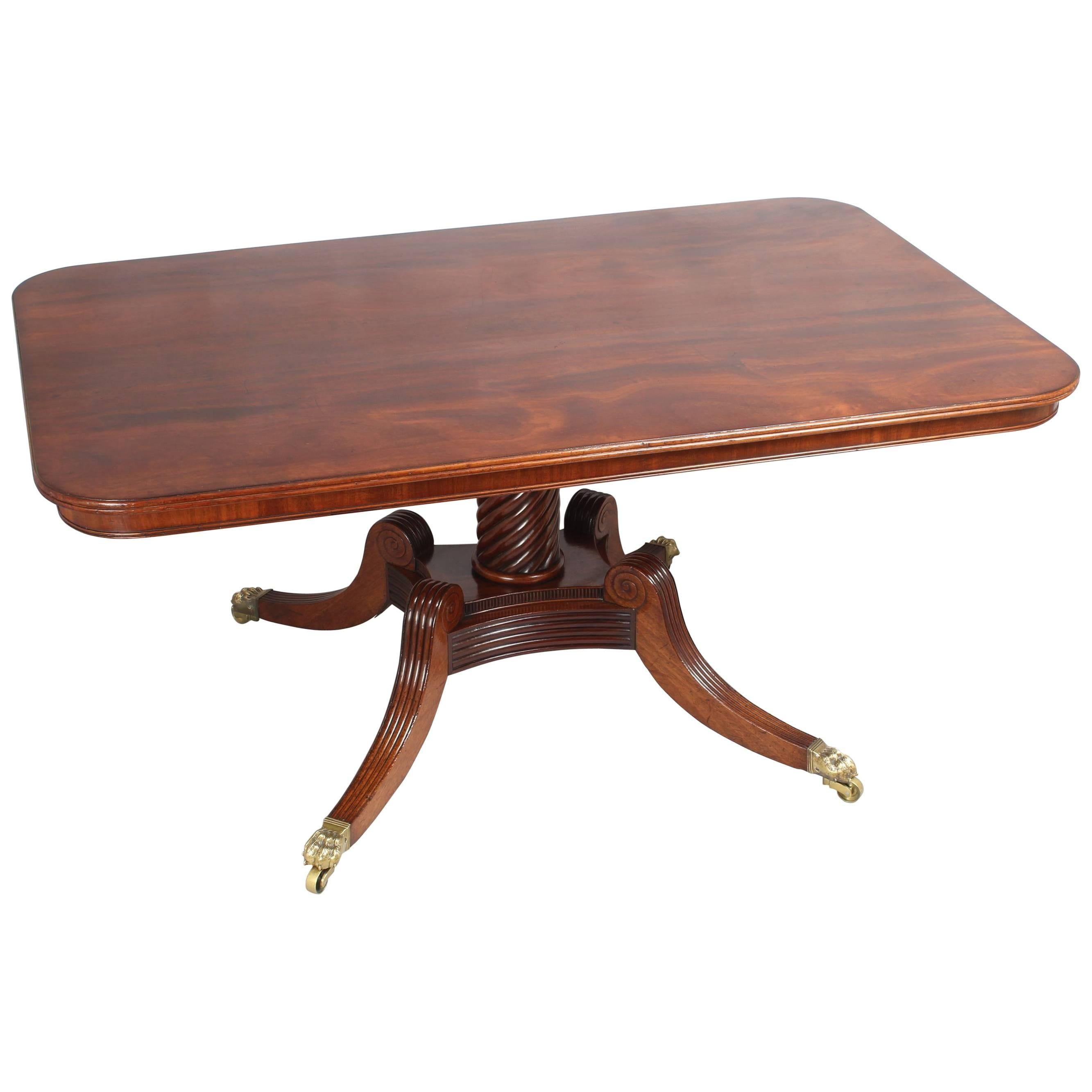 High Quality George IV Period Mahogany Breakfast Table