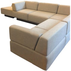 Harvey Probber Cubo Raked Sectional Sofa in Beige