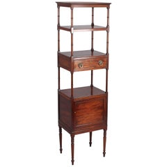 George III Period Mahogany Tall Whatnot
