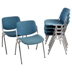Set of Six Castelli DSC 106 Stacking Chairs by Giancarlo Piretti Italian Chair