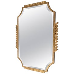 Gilt Iron Mirror by Edgar Brandt, France, circa 1925