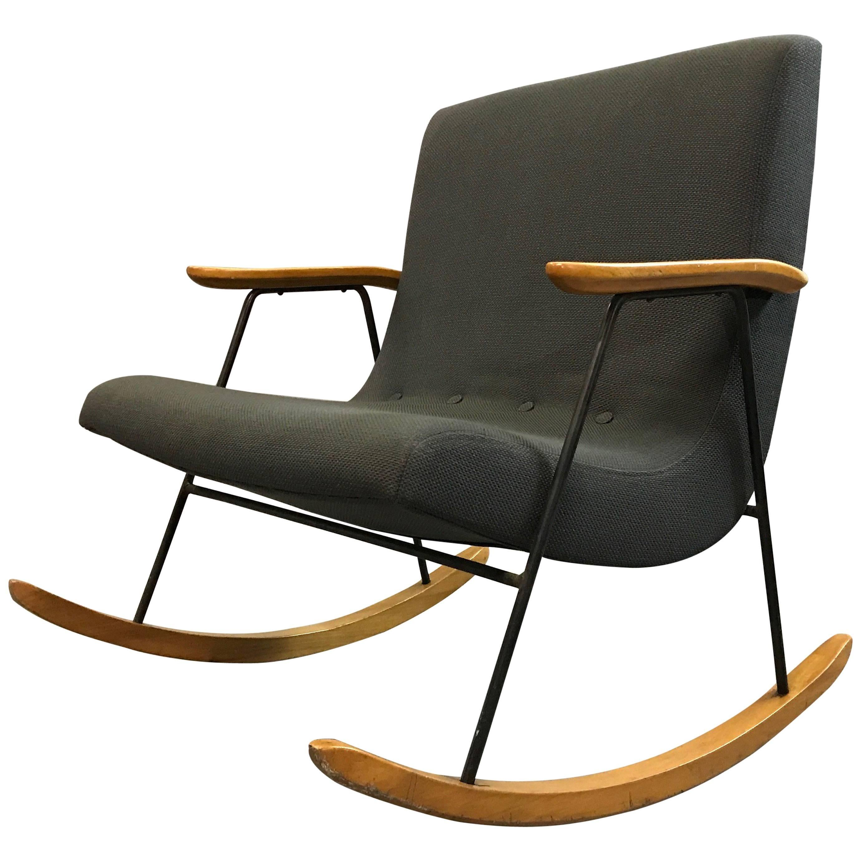 midcentury modern rocking chair by milo baughman