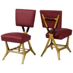 Pair of Chair by Gio Ponti & Giulio Minoletti, Italy, circa 1953