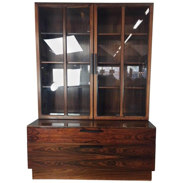 Arne Vodder Rosewood Hutch Cabinet