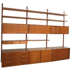 Teak Wall Unit by Sven Ellekaer for Albert Hansen Denmark, 1960s