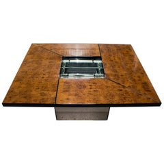 Paul Michel Burl Wood Coffee Table