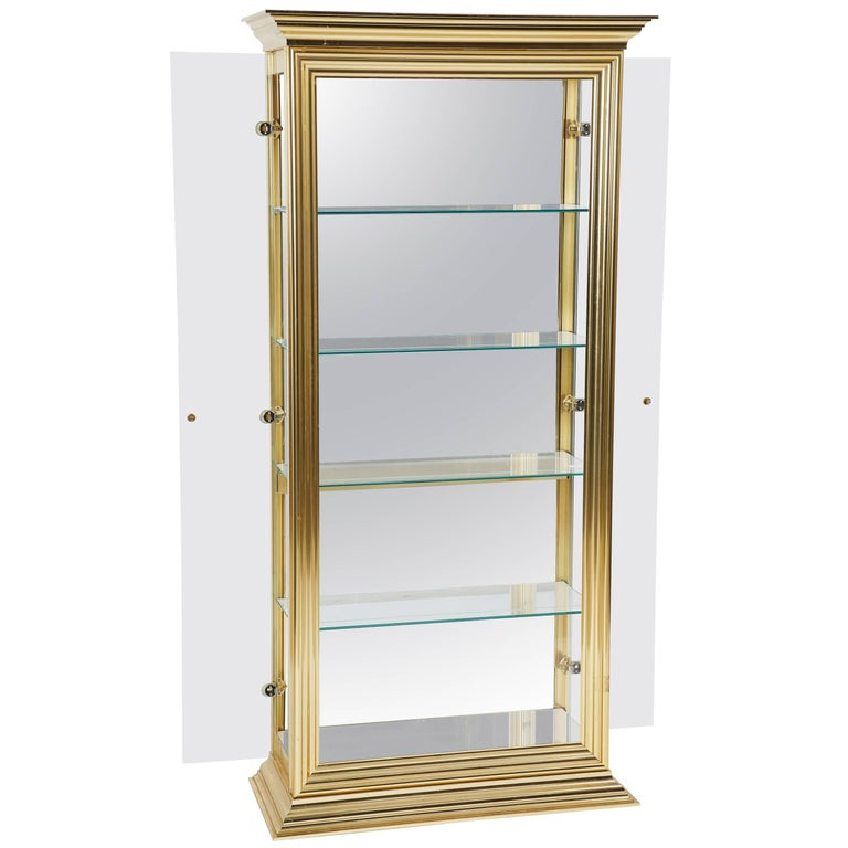 Mastercraft Style Brass Display Cabinet