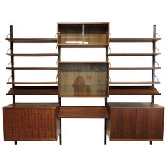 Poul Cadovius Midcentury Danish Modern Walnut Cado Royal Modular Wall Unit