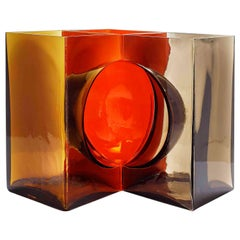 Cosmos Vase in Red and Orange by Tadao Ando & Venini