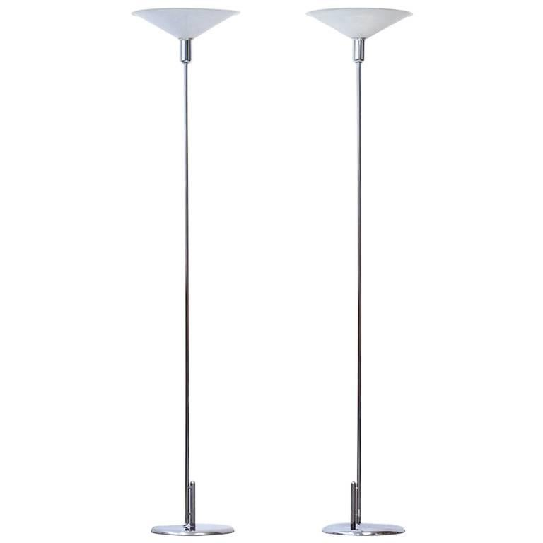 Pair of Uplight Post Modern Floor Lamps by Lindau & Lindekrantz, Sweden, 1970s