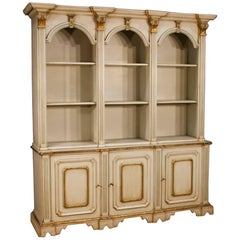 Italian Lacquered Bookcase in Wood, 20th Century