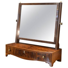 18th Century Mahogany Box Mirror