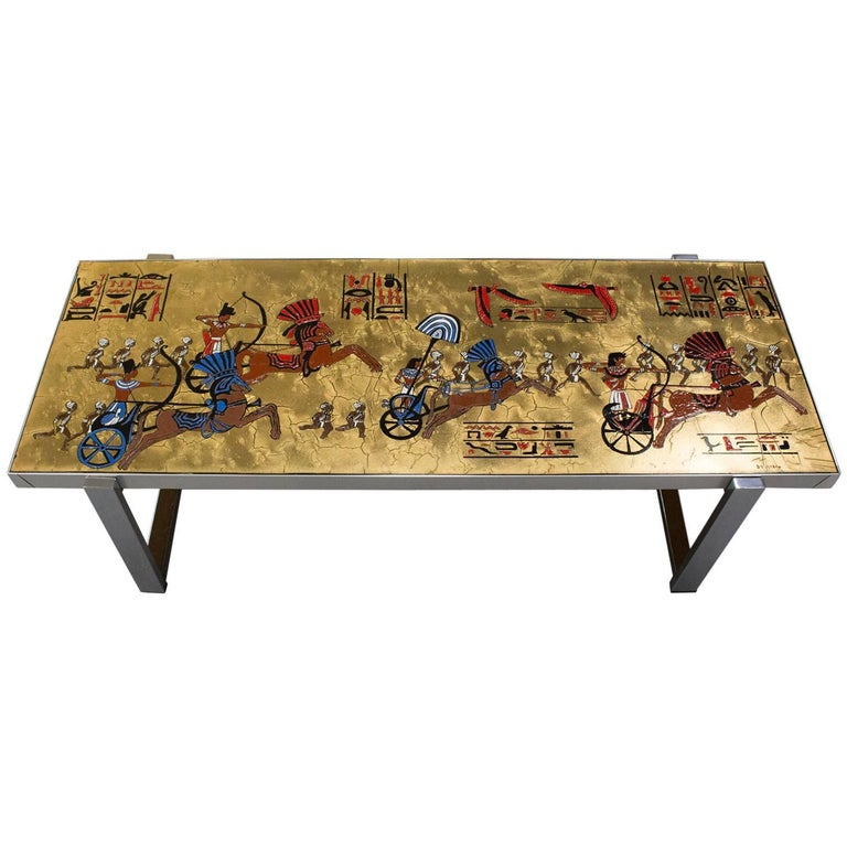 Denisco Egyptian Themed Coffee Table For Sale At 1stdibs